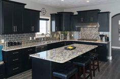 Merveilleux Beautiful Black Kitchen Cabinets (Design Ideas)