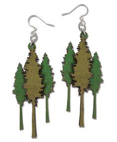 Redwood Tree Earrings