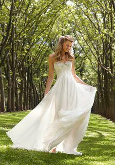 Simple but beautiful wedding dress.