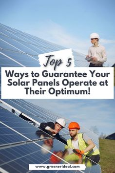 Solar panels are an effective way to cut your CO2 footprint as well as your expenses! To entirely exploit the available solar energy, the solar panels must operate at an optimum level. Check out these Top 5 Ways to Make Sure Your Solar Panels Operate at Their Optimum | Solar Panels | Solar Panels For Home | Solar Panel DIY | Solar Panel Architecture | Solar Panel For Roof | Solar Panel Installation | Best Solar Panel Mounting Ideas | #SolarEnergy #SolarPanel #Home #Gogreen #Energy #Ecofriendly Solar Power Energy, Solar Power System, Save Energy, Concentrated Solar Power, Solar Calculator, Tower Design, Renewable Sources Of Energy, Solar Panels For Home, Solar Panel Installation