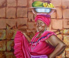 Palenquera 5, Oil on canvas