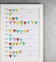 Advent, Anniversary, Bullet Journal, Birthday Calender, Silver Anniversary, Cool Ideas, Dekoration