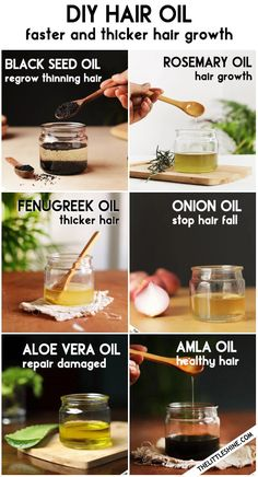 HOMEMADE NATURAL HAIR OIL RECIPE – for faster and thicker hair growth | The Little Shine