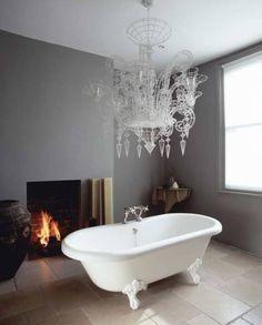soft grey bathroom - love love love