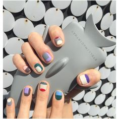 Unique and Creative Geometric Nail Designs For You. If you are looking for nail art designs and are still undecided then you are in the right place. We have put together unique ve beautiful geometric nail designs for you. Winter Nail Designs, Winter Nail Art, Winter Nails, Nail Art Designs, Spring Nails, Summer Nails, Diy Nails, Cute Nails, Pretty Nails