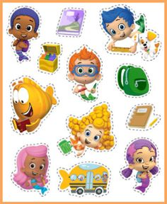 Help your kids jazz up their pencil cases with Bubble Guppies printable stickers! #NickJr #School
