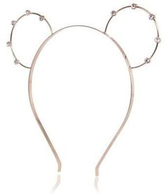Pin for Later: The Boldest Hair Accessories to Turn Heads on New Year's Eve River Island Gold Tone Diamante Bunny Ears Headband River Island Gold Tone Diamante Bunny Ears Headband (£4, originally £7)