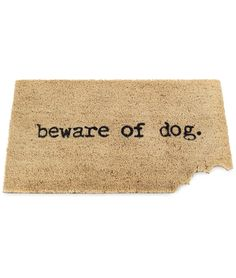 BEWARE OF DOG MAT | Trendy, Durable, Funny Coir Doormat Gift for Dog Owners | UncommonGoods