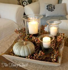 30 Pretty Candle Decoration Ideas for Thanksgiving ~ so many beautiful ideas!