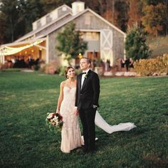 """Whether you're saying """"I do"""" in a barn or treehouse, these rustic fall wedding ideas for fall embrace the best of the season. Think warm fall drinks, cozy fall wedding favors, and pumpkin and mason jar centerpieces. Fall Wedding Bridesmaids, Fall Wedding Dresses, Navy Wedding Flowers, Fall Wedding Colors, Rustic Wedding Venues, Beautiful Wedding Venues, Rustic Weddings, Real Weddings, West Virginia Wedding"""