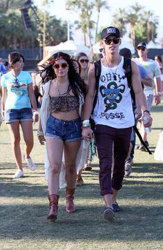 Vanessa Hudgens and Austin Butler at Coachella 2014