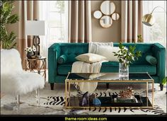 Luxe Living lifestyle   Hollywood glam living rooms