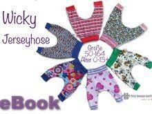Wicky *** E-Book Jersey Hose Unisex Kinderhose Pumphose Größe 50-164 Nähanleitung mit Schnittmuster von firstloungeberlin