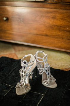 strappa sandals in silver Sparkly Wedding Shoes, Sparkly Shoes, Sparkle Wedding, Shoe Collection, Wedding Styles, Wedding Photography, Bling, Crystals, New York