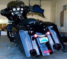 electra glide custom extended bags - Google Search #harleydavidsonstreetglidecustom #harleyddavidsonstreet