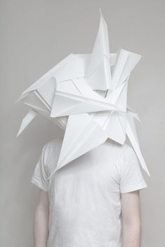 Creative Carl, Kleiner, and Photography image ideas & inspiration on Designspiration Art Minimaliste, Paper Mask, Paper Fashion, Women's Fashion, Body Adornment, Image Of The Day, Arte Popular, Paper Folding, Book Folding