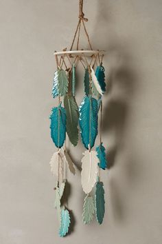 Little Wing Chimes - Great lesson for ceramics classes anthropologie.com