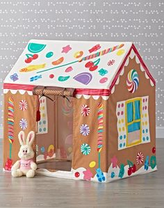 Shop Dylan's Candy Bar Gingerbread Playhouse.  Anyone with a sweet tooth will instantly feel at home in our Dylan's Candy Bar Gingerbread Playhouse.  It's topped with bright, vibrant graphics featuring every type of appetizing goody imaginable.
