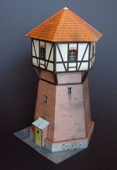 Papercraft 1/87 (HO) Water tower