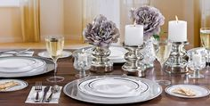 White Silver Premium Tableware - Party City