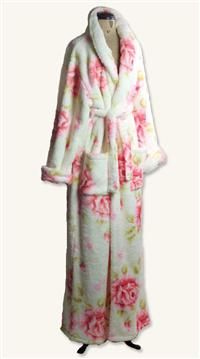 Swan's Down Robe | Fleece Floral Bathrobe