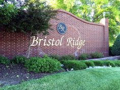Entrance to Bristol Ridge subdivision, one of the most charming neighborhoods in Lenexa, KS.