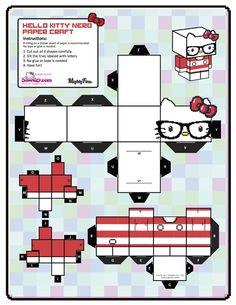Hello Kitty Nerd Paper / Cubeecraft
