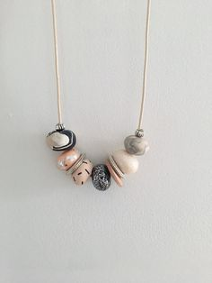 Polymer clay necklace by Caitieloudesigns on Etsy