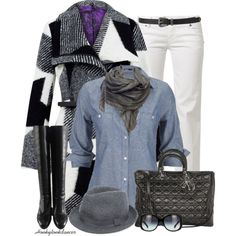 """""""White Jeans For Winter"""" by honkytonkdancer on Polyvore"""