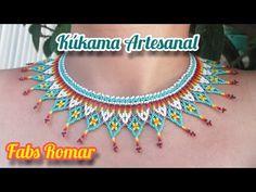 Beaded Jewelry, Diy And Crafts, Crochet Necklace, Chokers, Drop Earrings, Shakira, Beads, Youtube, Loom Bracelets