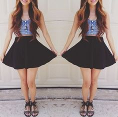 cute outfits skirts dresses tank tops crop tops jeans - Google Search