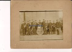 Vintage Bowling Green Military Band Photo Cabinet Card 8x10