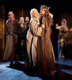 2013 - 'Richard II'  King Richard (David Tennant) holds John of Gaunt (Michael Pennington) before he dies. RSC  Dir. Greg Doran  Shakespeare theatre, Stratford on Avon