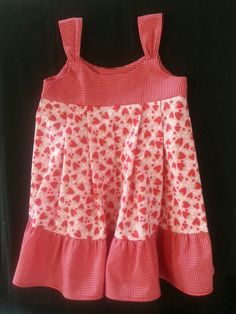 Strawberry toddler dress ruffle dress by KrystaBeeBoutique on Etsy, $30.00