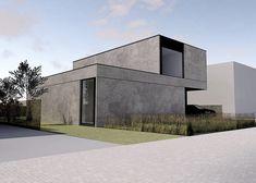 Studio Segers Architekten / Modern Home / Beton / Betonbau / Private . Concrete Architecture, Residential Architecture, Interior Architecture, Futuristic Architecture, Concrete Houses, Concrete Building, Concrete Board, Home Modern, Modern House Design