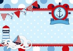 Happy First Birthday Noah Sailor Birthday, Sailor Party, Sailor Theme, Baby Shower Themes, Baby Boy Shower, Baby Clip Art, Nautical Party, Baby Scrapbook, Baby Cards