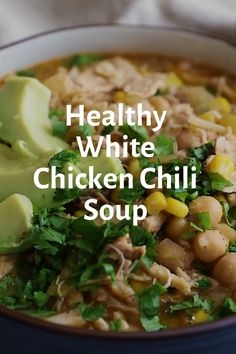 This smooth white chicken chili recipe may even be made within the sluggish cooker and is sure to grow to be a brand new own family favourite. Best Soup Recipes, Healthy Soup Recipes, Easy Vegan Soup, White Chicken Chili, Cooker, Smooth, Amazing, Food, Hearty Soup Recipes