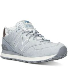 New Balance Women's 574 Heathered Casual Sneakers from Finish Line   macys.com