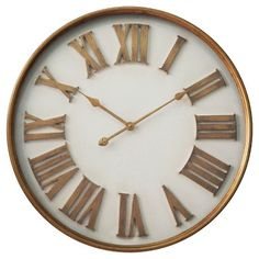 Infinity Instruments White with Gold Roman Numerals Wall Clock