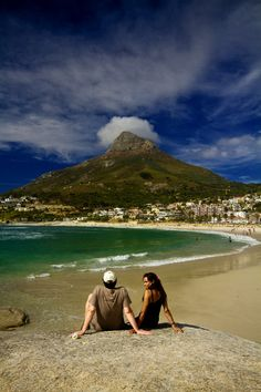 Camps Bay, Cape Town looking towards Lions Head. Camps Bay Cape Town, South Afrika, Cape Town South Africa, Out Of Africa, African Countries, Far Away, Beautiful Beaches, Places To See, Honeymoon Inspiration