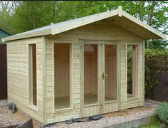 FREE Assembly. Diamond Summer Buildings - Summer Houses - Leisure Chalets. Display Site Surrey. UK GB