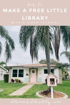 Little Free library plans. Ideas for a DIY book share box. How to build a free little library with an easy design and creative design. Pink paint. How to make a free little library. Little Free Library Plans, Little Free Libraries, Little Library, Diy Design, Creative Design, Diy Home Accessories, Diy Home Repair, Outdoor Paint, Diy House Projects