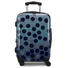 Ombre Dot is a mixture of a dot overlay with a striking ombre plaid, creating a fashionable luggage for the modern traveler. This spinner is made from sturdy, ultra-lightweight polycarbonate/ABS material, so it won't weight you down while you travel. Ombre Dot also features an integrated TSA-lock with 3-digit combo on all set pieces, retractable pull handle with push-button system, and four 360-spinner wheels for free mobility on any surface. You never skimp on fashion, so why skimp on luggage? Hardside Luggage, Overlays, Wheels, Dots, Surface, Plaid, Handle, Traditional, Tartan