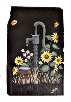 Painted Slate Old Fashioned Water Pump with by #dteam #etsy WhatsInGrampasShack, $ 25.00
