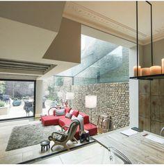 Aluminium Sliding Doors, Pivot Doors, Modern Windows And Doors, Glass Extension, Extension Ideas, Rear Extension, Best Living Room Design, Glass Structure, Side Return