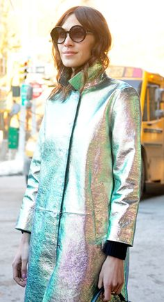 Get tips on how to dress for winter from Alexa Chung