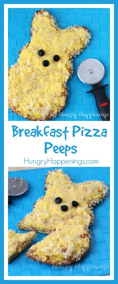 Peeps for Breakfast? I've enjoyed many a Peep for breakfast, but none quite as satisfying as this Egg, Ham and Cheese Breakfast Pizza Peeps I made as part of a post sponsored by Wilton.