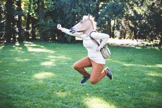 size: Photographic Print: Young Hipster Horse Mask Woman in the Woodland Autumn by Eugenio Marongiu : Horse Mask, Horse Head, Funny Amazon Reviews, Laughing Face, Animal Masks, Graduation Pictures, Make Me Smile, I Laughed, Photo Editing
