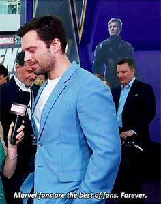 Sebastian ✪ Stan attends the world premiere of 'Avengers: Endgame' at the Los Angeles April 2019 Marvel Memes, Marvel Dc Comics, Marvel Avengers, Sebastian Stan, Bucky Barnes Captain America, We Have A Hulk, Marvel Characters, Marvel Actors, Bucky And Steve
