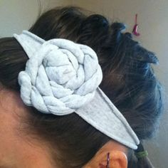 My first tshirt headband! Love it already...